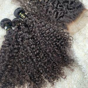100% Curly virgin human hair
